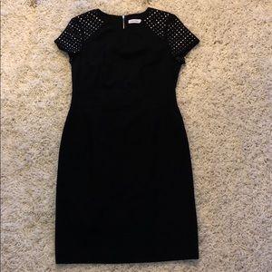 Black Sleeve Studded Dress